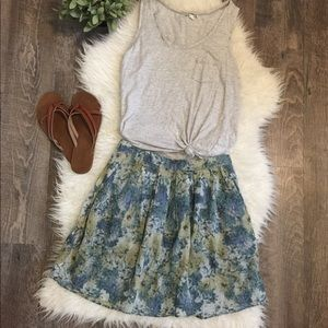 Kimchi Blue from Urban Outfitters floral skirt